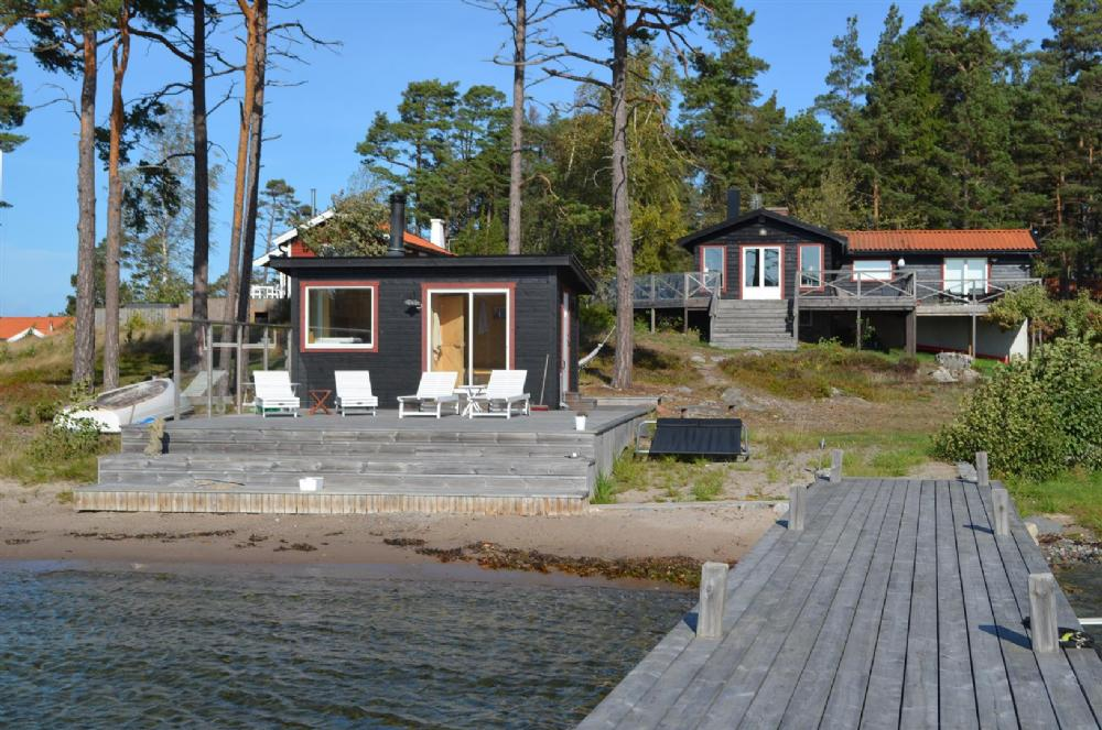 Bastun vid stranden. Sauna at the beach.